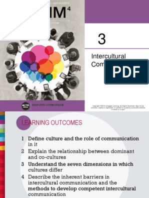 Comm4 Verderbersellnow Ch03 Cross Cultural Communication Collectivism The study of time (time serves as a nonverbal a nonverbal by showing differences). scribd