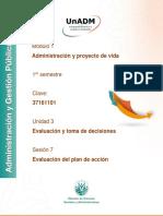 Plan de Accion Evaluacion