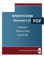 Spring 2018 Service Changes