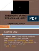 (Introduction of Machine Shop Operation)
