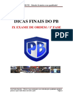 Dicas Finais Exame Oab - Super Pb
