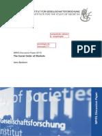 The Social Order of Markets - Beckert