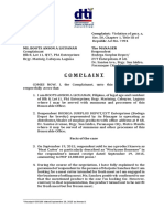 Sample Complaint for Unfair Sales Practice Under the Consumer Act of the Philippines