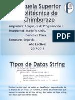 Tipos de Dato String