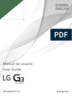 Manual LG G3 D855