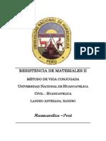 Problemas Resueltos de Resistencia de Materiales II - Metodo de Viga Cojugada