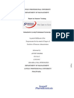 Project Report of Summer Training in a Pharma company