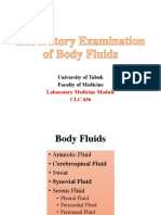 Body Fluids