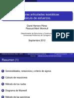 06. Estructuras Articuladas Isostaticas. Calculo de Esfuerzos Reducida