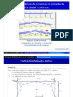 06. Ejemplos Calculo de Esfuerzos en Estructuras Articuladas Isostaticas v3 Prs