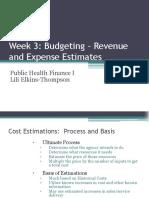 Health Care Finance I Slides 2017 Week 3