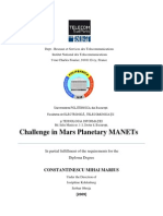 Challenge in Mars Planetary MANETs