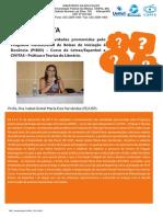 Entrevista com a Prof. Dr. Isabel Gretel María Eres Fernández