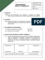 1 Proc. Mantto Preventivo y Correctivo