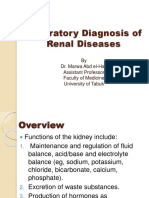 Laboratory Diagnosis of Renal Diseases 2017-2018