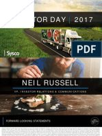 SYY Sysco Investor Day Presentation 2017
