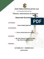 Trabajo Bimestral Desarrollo Economico, Actividad 1