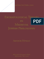 (Aquinas Lecture) Arthur Hyman-Eschatological Themes in Medieval Jewish Philosophy -Marquette Univ Pr (2002)