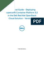 TechGuide OpenShift Deployment Dell RedHat OpenStack v5