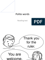 Polite Words Reading Text