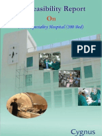 TOC of Pre- Feasibility Report - 200 Bed Multi Speciality Hospital