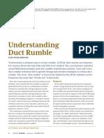 Ashrae Journal - Understanding of Duct Rumble
