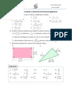 Ejercicios_Adicion y Sustraccion de Fracciones