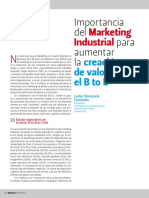 Importancia Del Marketing Industrial Para Aumentar La Creación de Valor en El B to B
