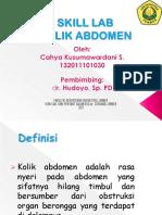 Skill Lab - Kolik Abdomen Diastri