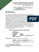 Modelo de Demanda Civil de Indemnización Por Daños y Perjuicios - Autor José María Pacori Cari