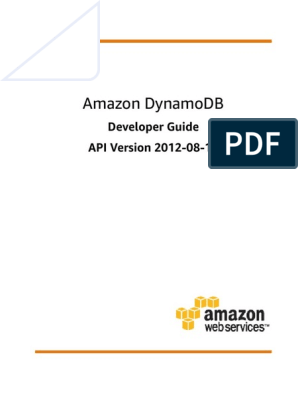 Dynamodb Dg | Database Index | Application Programming Interface