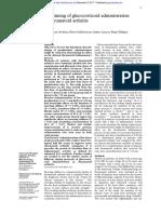 The Timing of Glucocorticoid Administration in Rheumatoid Arthritis