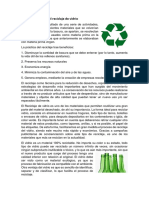 Información Sobre El Reciclaje de Vidrio