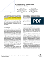 A Comparative Evaluation of Term Weighting Methods for Information Filtering