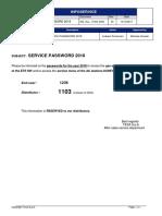 Service Password 2018