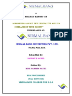 32933085 Project on Derivative Market