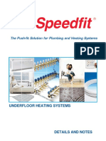 JG Speedfit Underfloor Heating Details and Notes