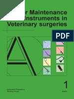 maintenance of vet med instruments