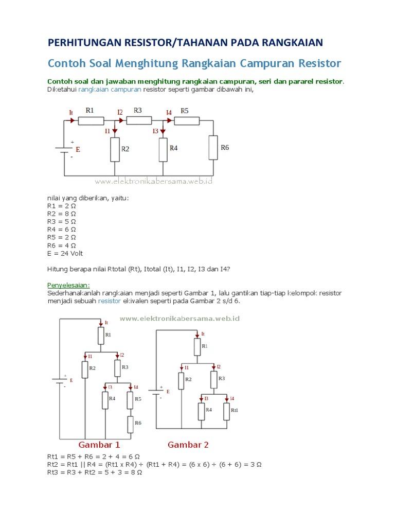 Contoh Soal Rangkaian Paralel Resistor Kumpulan Soal Pelajaran 10