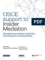 OSCE Support to Insider Mediation