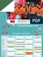 Afvalkalender Leuven Heverlee B 2018
