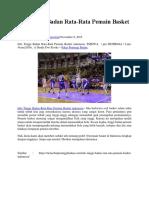Beberapa Info Tinggi Badan Rata-Rata Pemain Basket Di-Indonesia