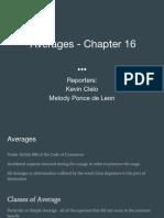 Chap 16 Averages
