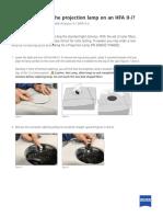 How to Change Projection Lamp Hfa II Ser7972