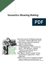 Semantics - Lexical and Phrasal