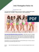 Ini Dia Cara Cepat Untuk Meninggikan Badan Ala Artis Korea Dan Tips-Tipsnya