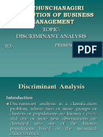 Discriminanat Analysis