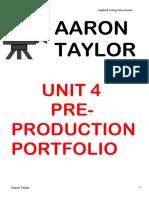 Pre Production Portfolio Report