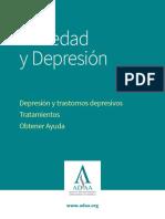 Ansiedad y Depresión Depresión y trastornos depresivos Tratamientos 2017