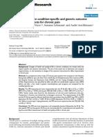 Sensibilidad Cambio Clinico Instrumentos Generales Especificos Dolor Cronico